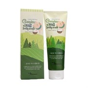 Скраб для тела, ELIZAVECCA, MIlky Piggy Green Tea Salt Body Scrub (tube), 300 г